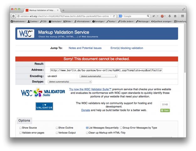 Typische Probleme mit der fehlerhaften XML-Ausgabe von Ratsinformationssystemen.
